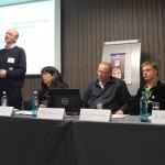Moderator Kai-Uwe Steffens, Referenten Lüder, Lenkewitz und Kranich (v. l.)